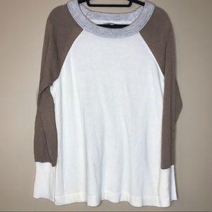 41 Hawthorn | Colorblock Cream Sweater Sz XL